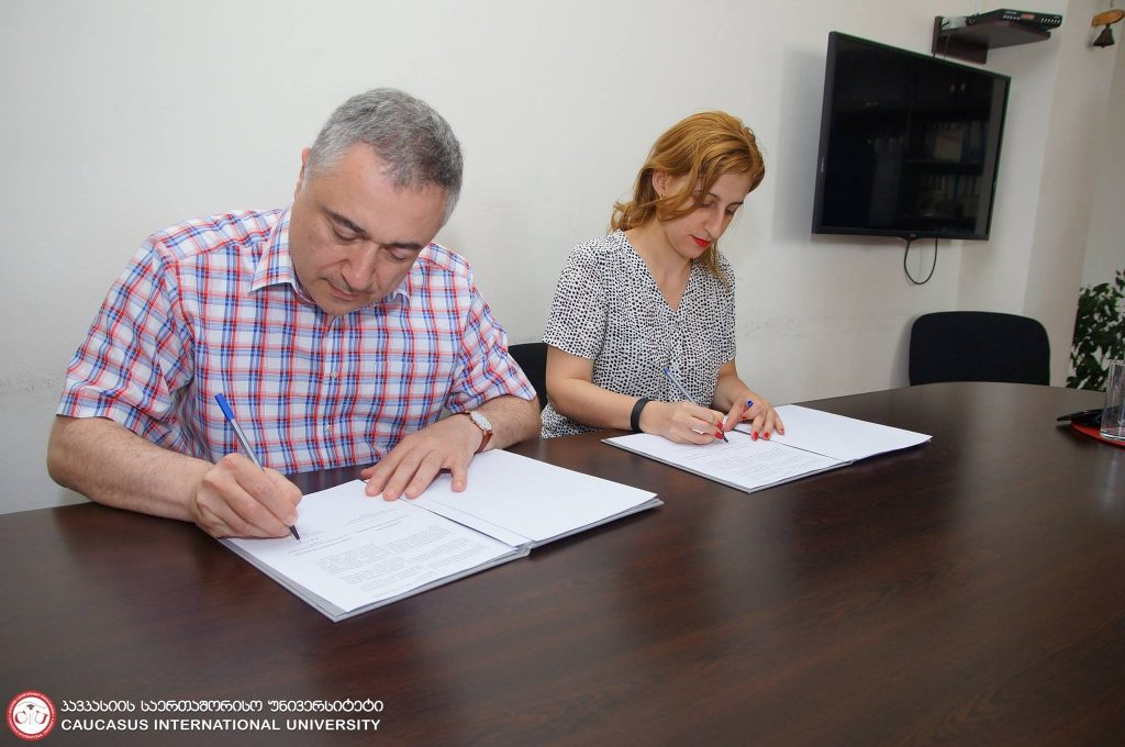 The Memorandum was signed between BUSINESS GEORGIA and Caucasus International University
